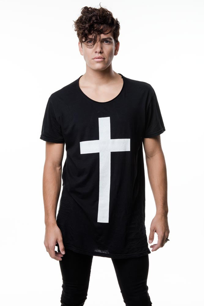 Mens Black Cross