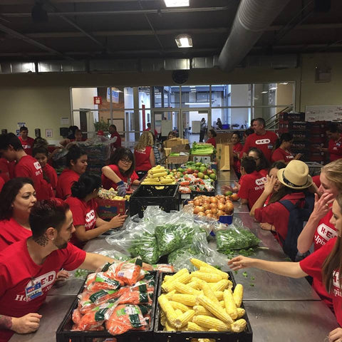 H-E-B Volunteers Serving Food