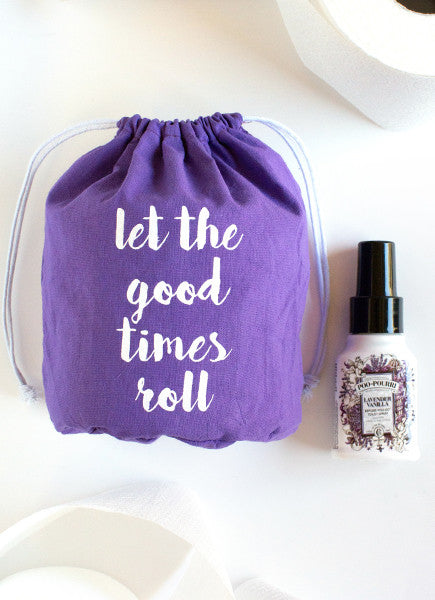 Toilet Paper Gift Set - Purple