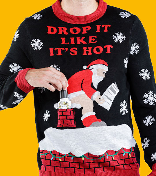 Drop It Like It's Hot Men's Sweater