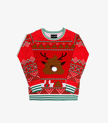 Spritzen the Fresh-Nosed Reindeer Women's Sweater