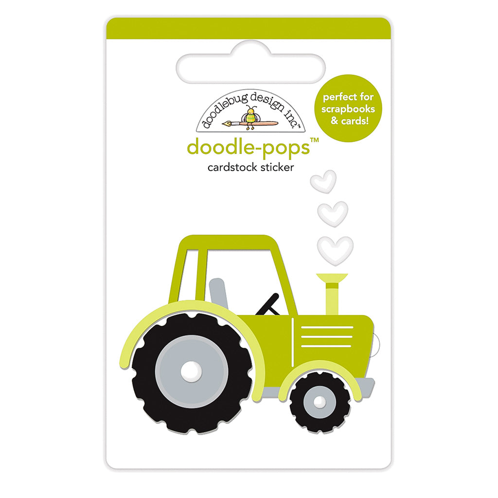 Tractor 3 D Sticker Doodlebug Trusty Tractor Doodle Pops Down