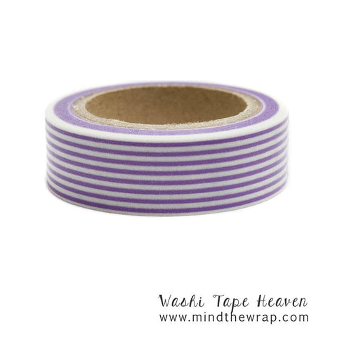 Red Lines Stripes Adhesive Washi Tape 15mm Wide x 10M Roll No.12506