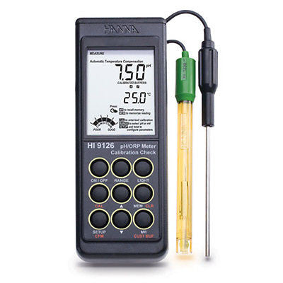HI 9126 Calibration Check Waterproof pH/mV/ºC Meter