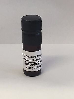 12 GRAM GEM Gemstone Refractometer Refractive Index Fluid Liquid 1.800 USA MADE