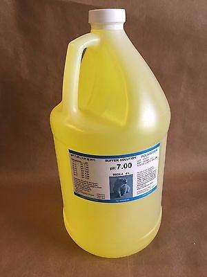pH Meter Buffer Calibration Solution, YOU CHOOSE 4, 7 OR 10pH, 1-Gallon Bottle