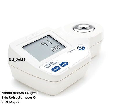 Hanna HI96801 Digital Brix Refractometer 0-85% Maple
