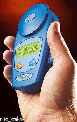 Misco Palm Abbe Digital Handheld Antifreeze Refractometer, Propylene Glycol Scales, Concentration, Freeze Point Degree F