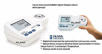 Hanna HI96831 Digital Ethylene Glycol Refractometer HI 96831, Antifreeze