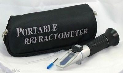 Salinity Refractor 4 Aquarium Sea Water Hydrometer, SOFT CASE!  Ships from USA!