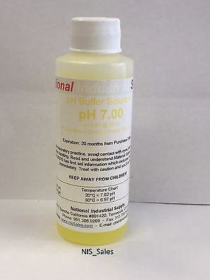 7.00pH Meter Calibration Buffer Solution 4oz Bottle, National Industrial Supply