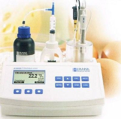 Hanna Instruments Acidity and pH Titrator for Fruit Juice