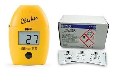HI 770 Silica HR Checker HC, 0 to 200ppm Photometer + HI770-25 Reagents, Combo Pack!