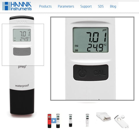 $46.99 Hanna Instruments pHep®+ HI98108 Pocket pH 0.01 pH Resolution