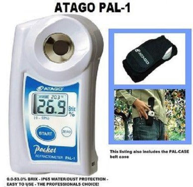 Atago PAL-1 Digital 0-53% Brix Refractometer 32 with PAL-CASE