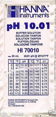Hanna Instruments HI70010P pH Meter Buffer Solution Pouches 10.01, 20ml Pouch