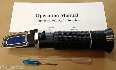 0-32% Magnum Media RSG-100ATC Brix Beer Sugar Wine Wort SG Refractometer HOME BREW! BRIXBREW