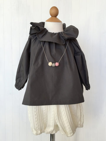 Ruffle blouse - Grey