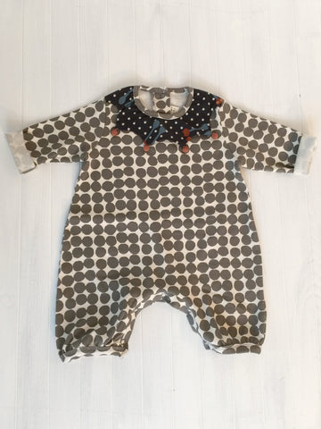 Romper with polka dot - Grey