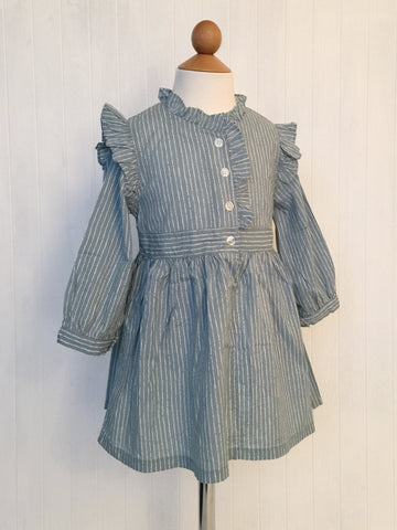 Ruffle dress - Blue