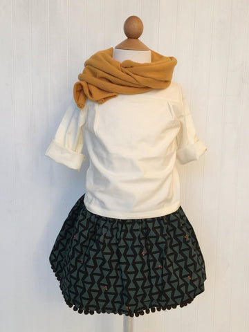 Skirt with Pom poms - Green