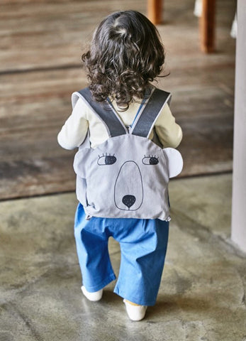 Bear backpack - Blue