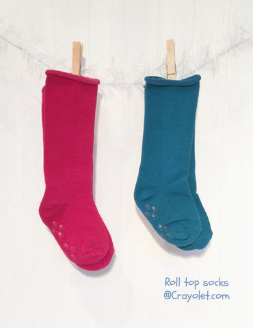 Roll top socks - 2 Colour