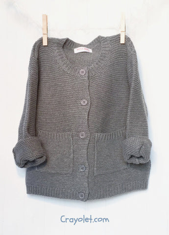 Cotton cardigan - Grey
