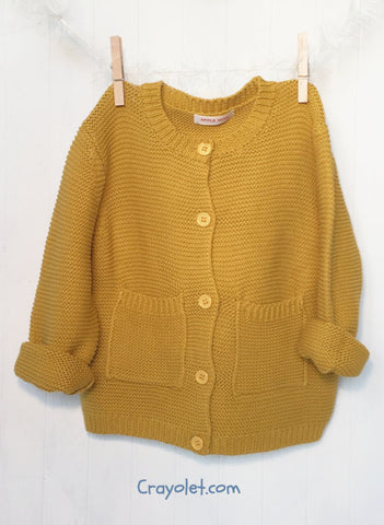 Cotton cardigan - Yellow