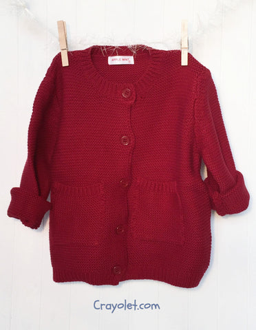 Cotton cardigan - Red