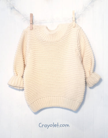 Boxy sweater - Cream