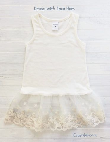Inner dress with Lace Hem