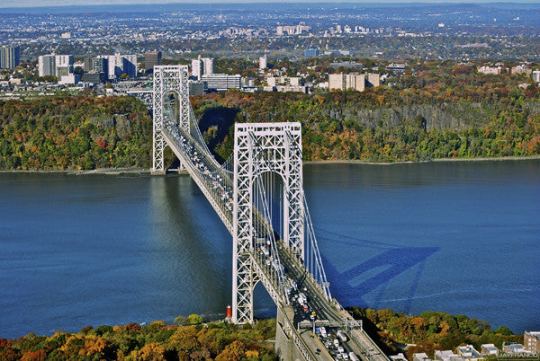george washington bridge helikopter rundflug
