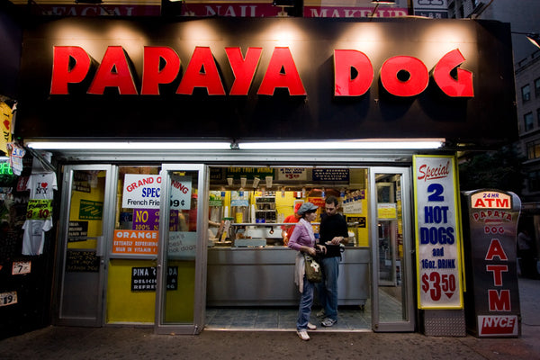 papaya hot dog in new york