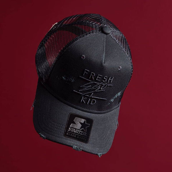 98fc31ea703 Fresh Ego Kid Mesh Trucker Cap Distressed