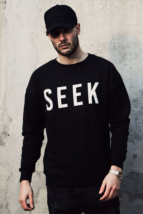 SEEK Crewneck Sweatshirt Black