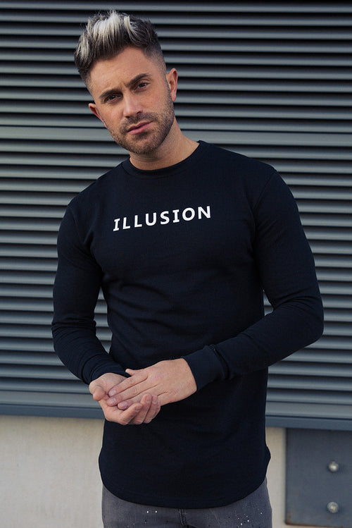 Illusion Attire Sweatshirt Black