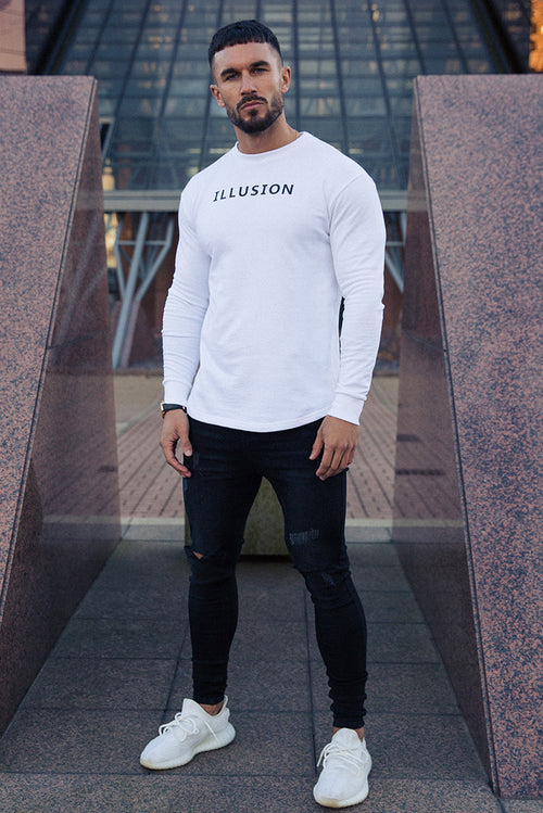 Illusion Attire Sweatshirt White