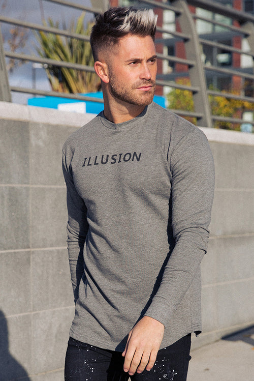 Illusion Attire Sweatshirt Grey