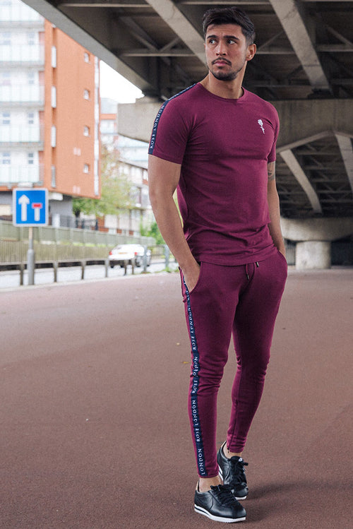 Rose London Bennett Tapping Joggers Burgundy
