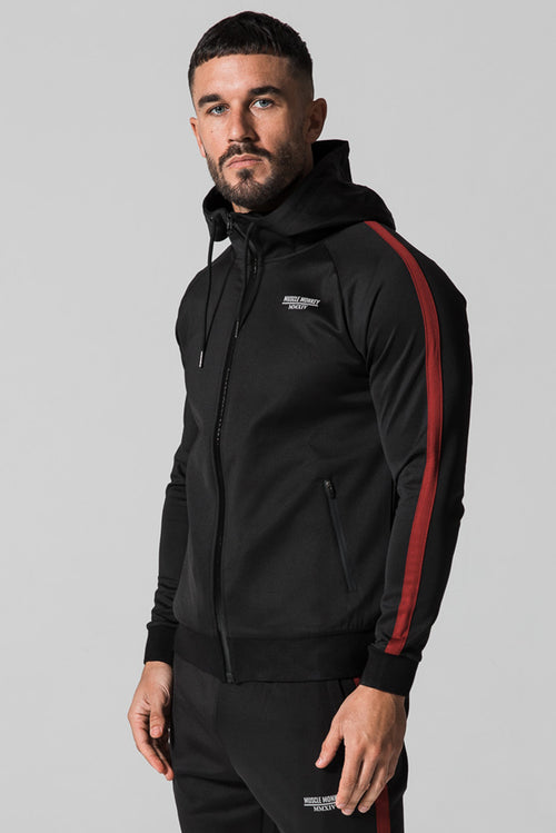 Muscle Monkey Poly Hoodie Black / Red