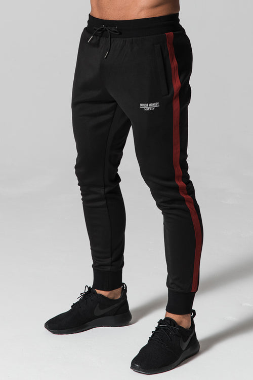 Muscle Monkey Poly Joggers Black / Red