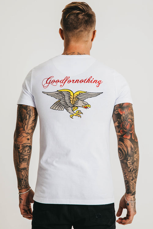 Good For Nothing Aztec Eagle T-shirt White