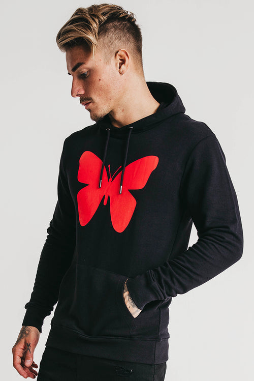 Good For Nothing Butterfly Hoodie Black