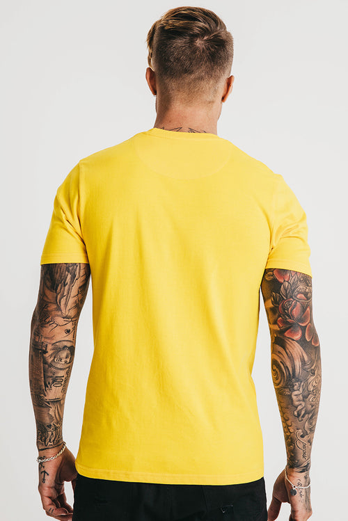 Snake Embroidery T-Shirt Yellow