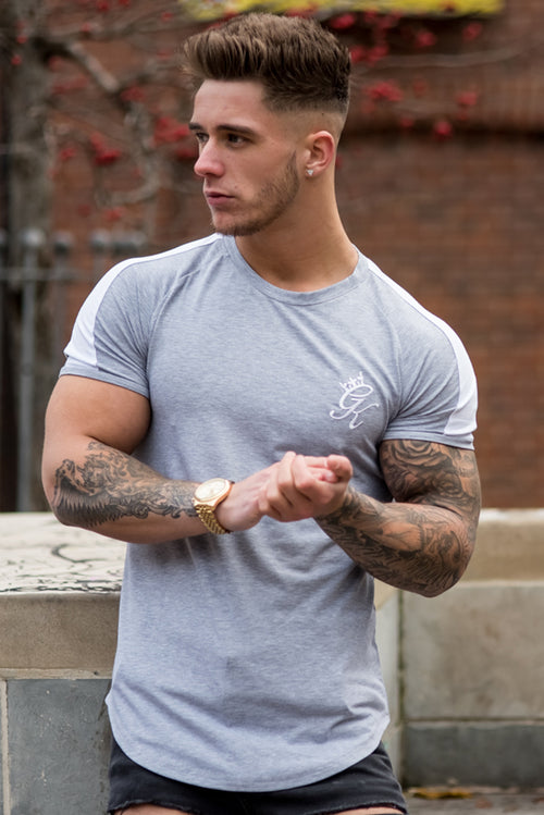 Gym King Longline Retro T-Shirt Grey
