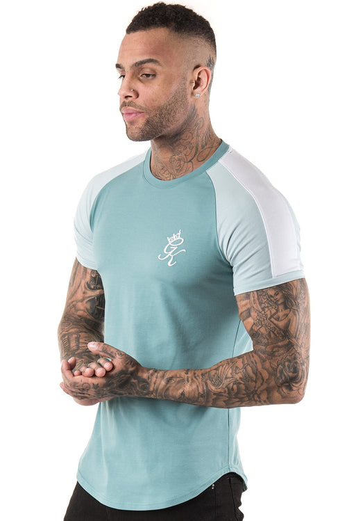 Gym King Longline Retro T-Shirt Mineral Blue / Sterling Blue