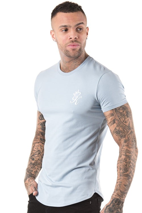 Gym King Longline Fitted T-Shirt Fog