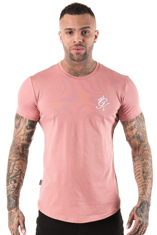 Gym King Longline Fitted T-Shirt Rose