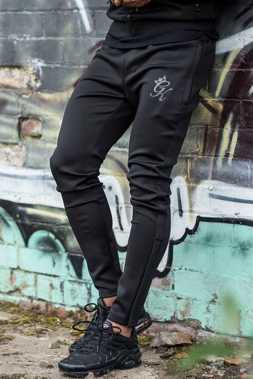 Gym King Poly Tracksuit Bottoms Black